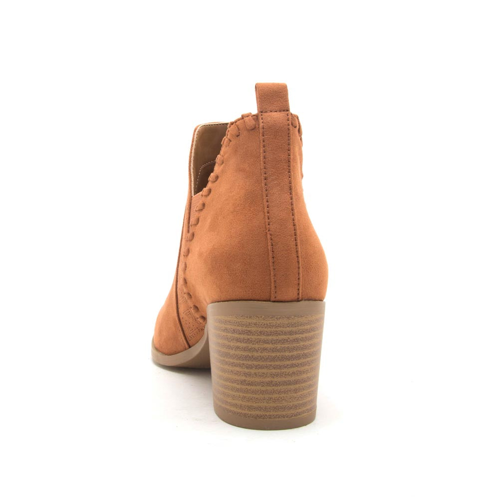 Topanga-40 Rust Closed Toe Booties