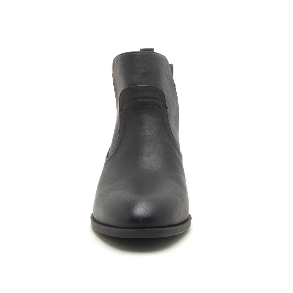 Topanga-49 Black Side V Cut Booties