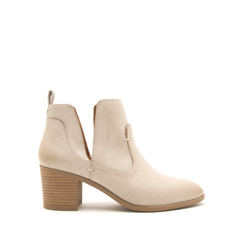 Topanga-49 Stone Side V Cut Booties