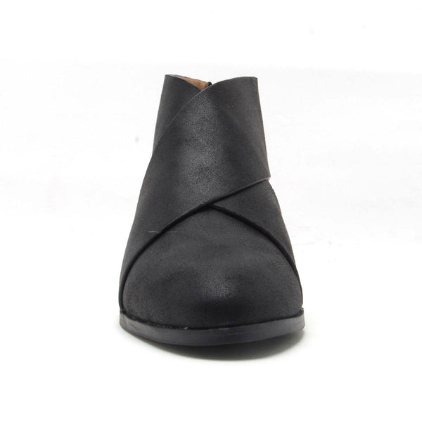 Travis-56 Black Cross Band Bootie