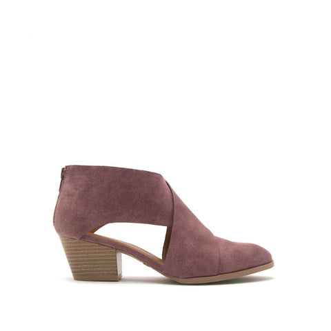 Travis-56 Rose Taupe Cross Band Bootie