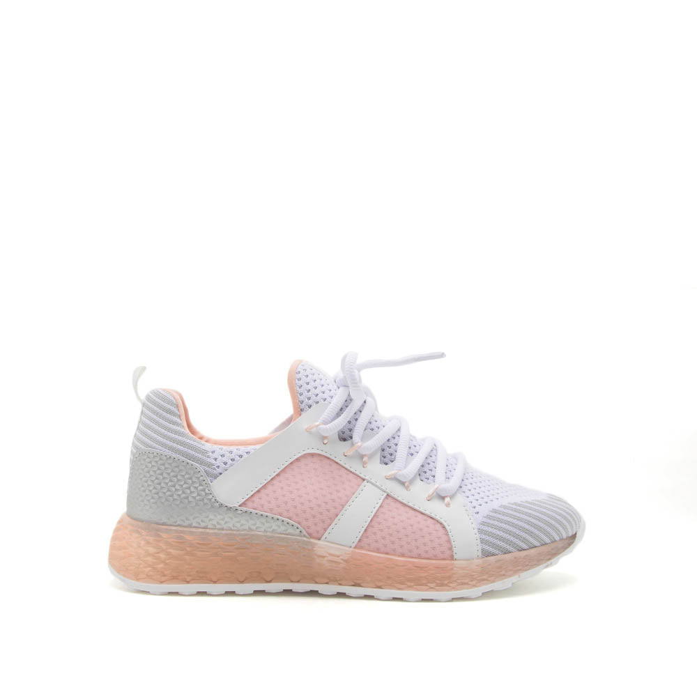 Tucson-01 Blush Lace Up Sneakers