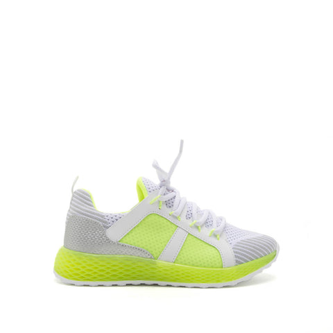 685f90eb6734 Sneakers. Tucson-01 Neon Yellow Lace Up Sneakers