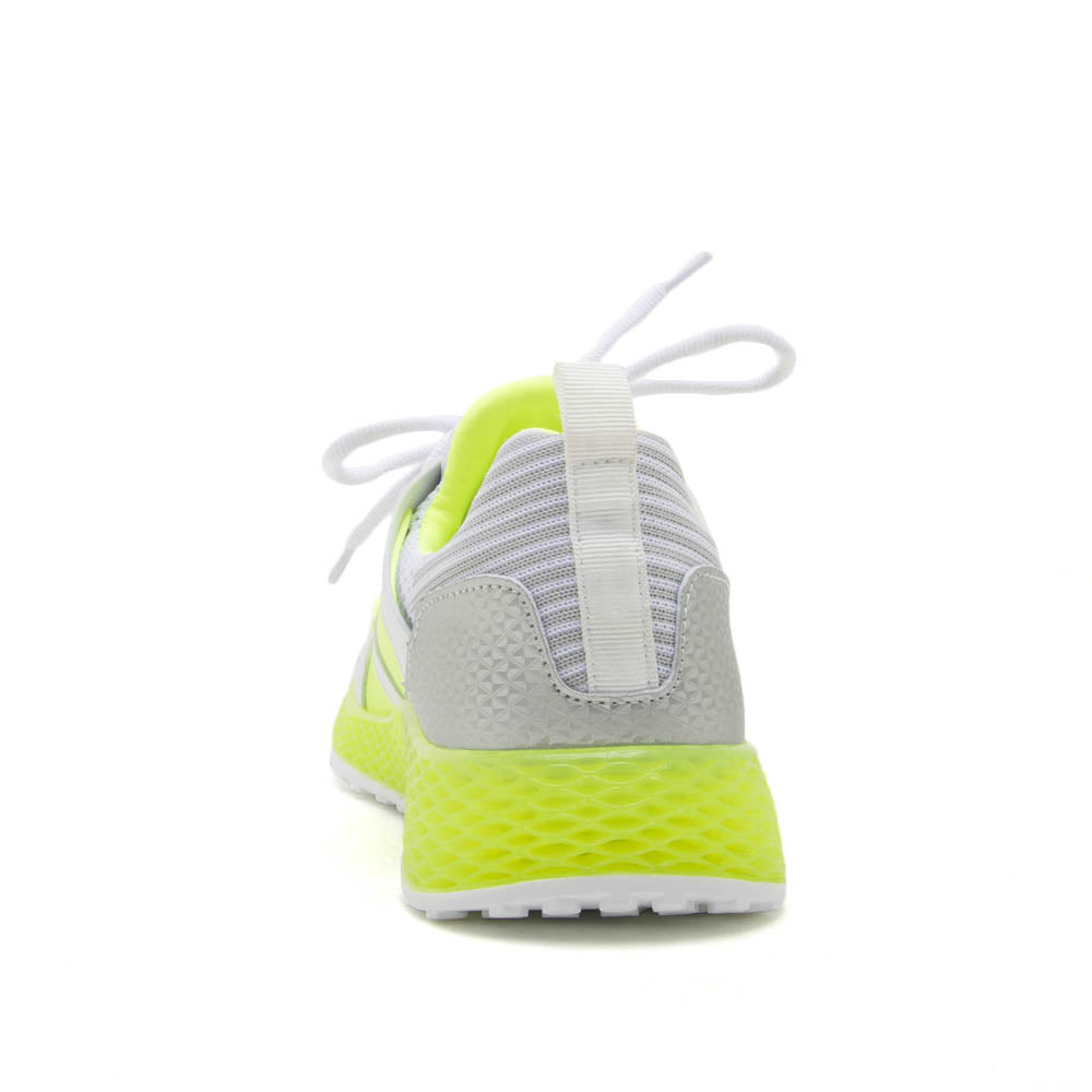 Tucson-01 Neon Yellow Lace Up Sneakers