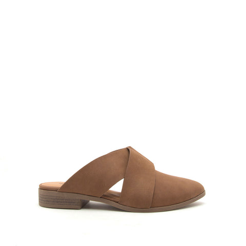 Tuxedo-109 Maple Cross Band Mule Ballerinas