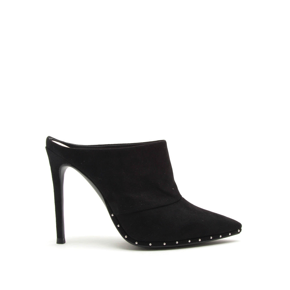 Vava-04AX Black Mule Studded Pump
