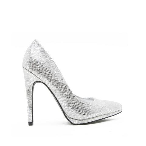 Virtue-15 Silver Metallic Pump