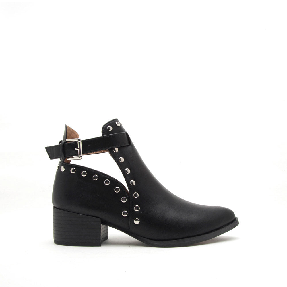Wasco-25X Black Studded Bootie
