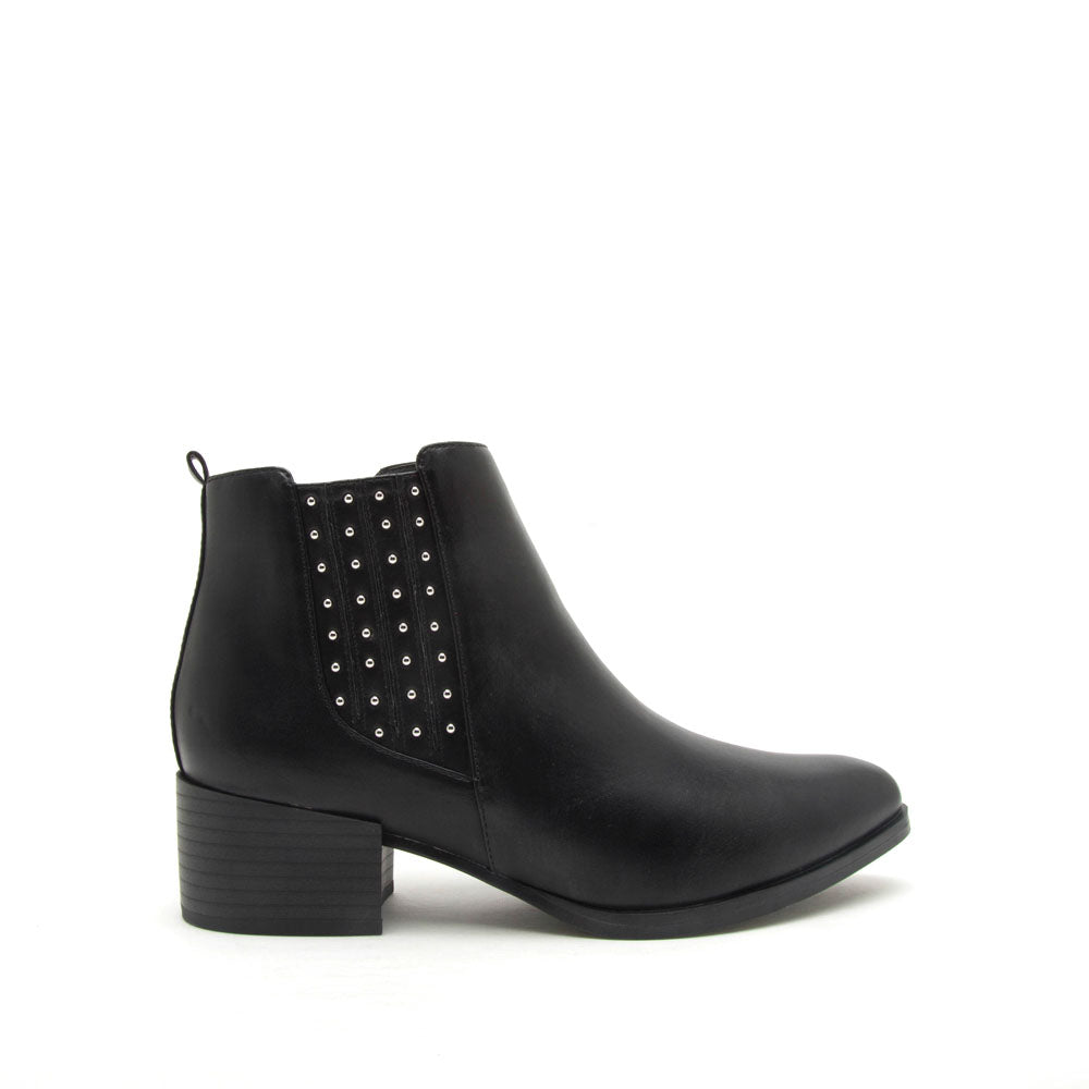 Wasco-29X Black Studded Bootie