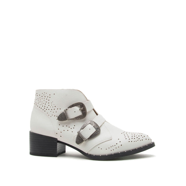 Wasco-37A White Studded Western Bootie