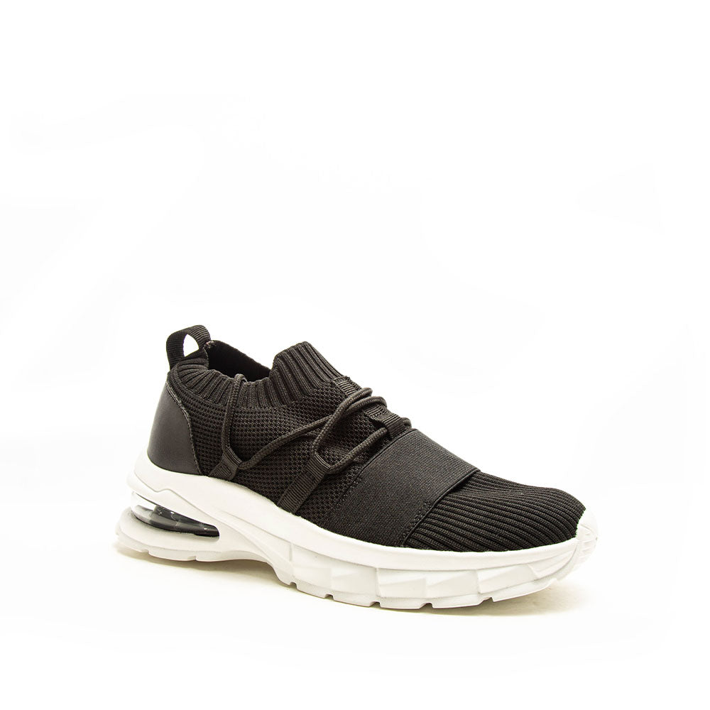 Waylan-01 Black Lace Up Sneakers
