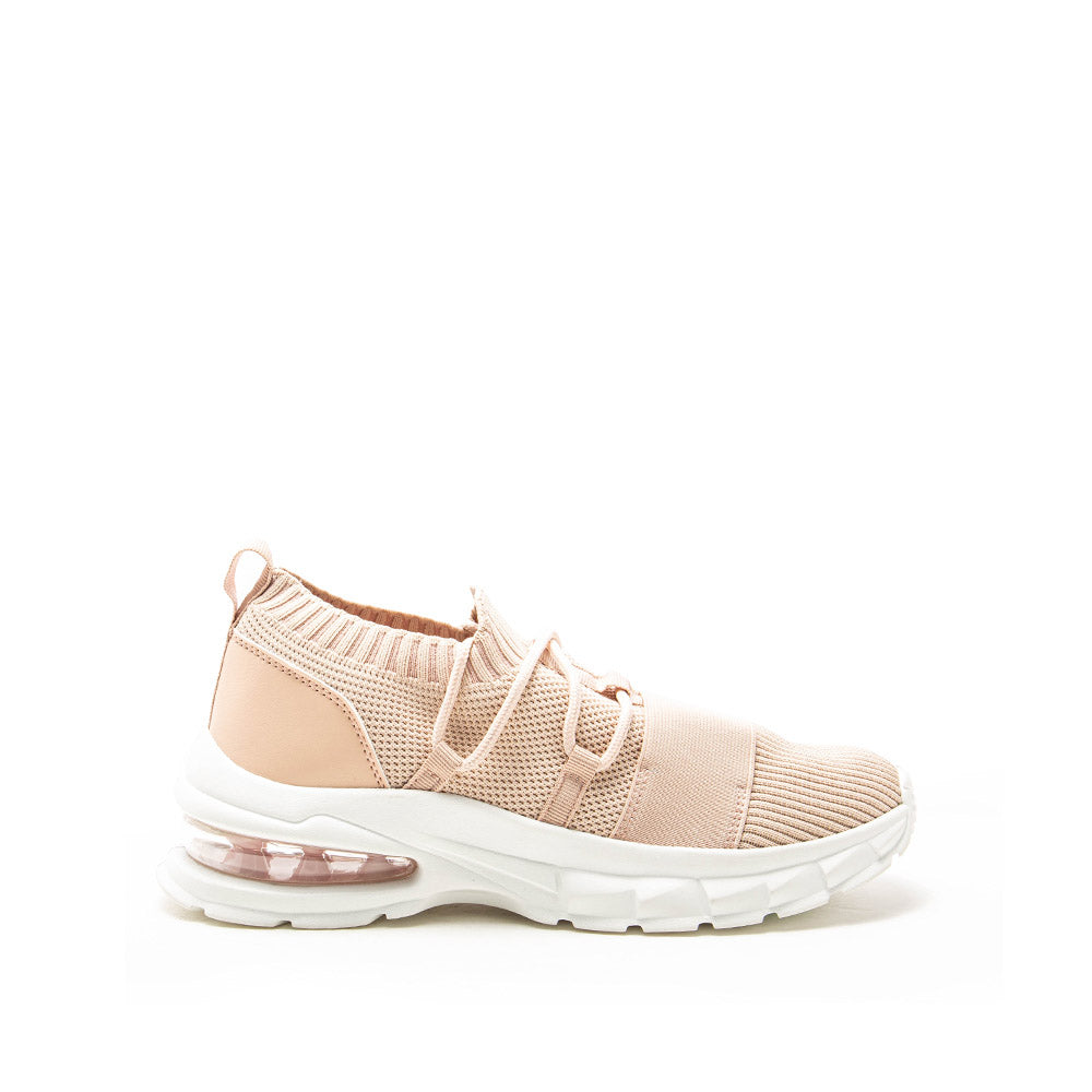 Waylan-01 Blush Lace Up Sneakers