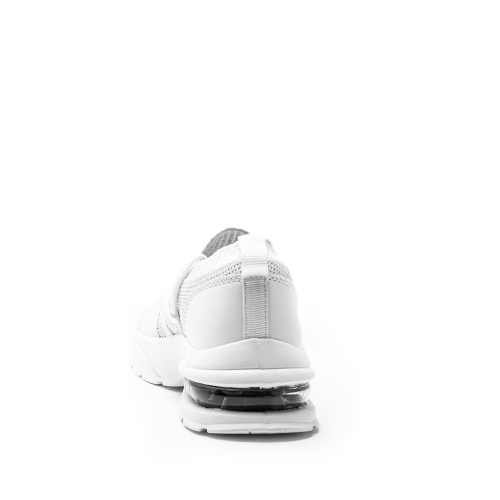 Waylan-01 White Lace Up Sneakers