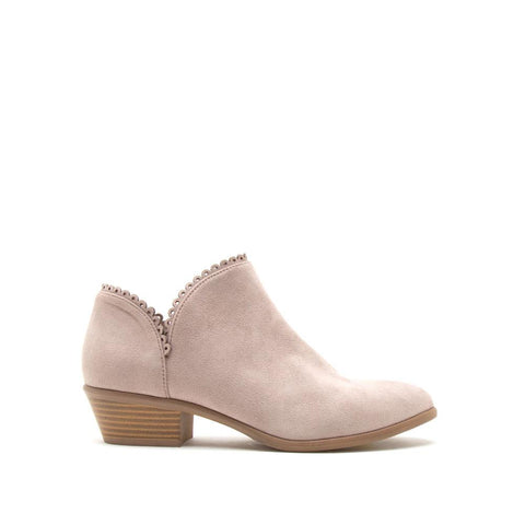 Weekend-08 Taupe Scalloped Bootie