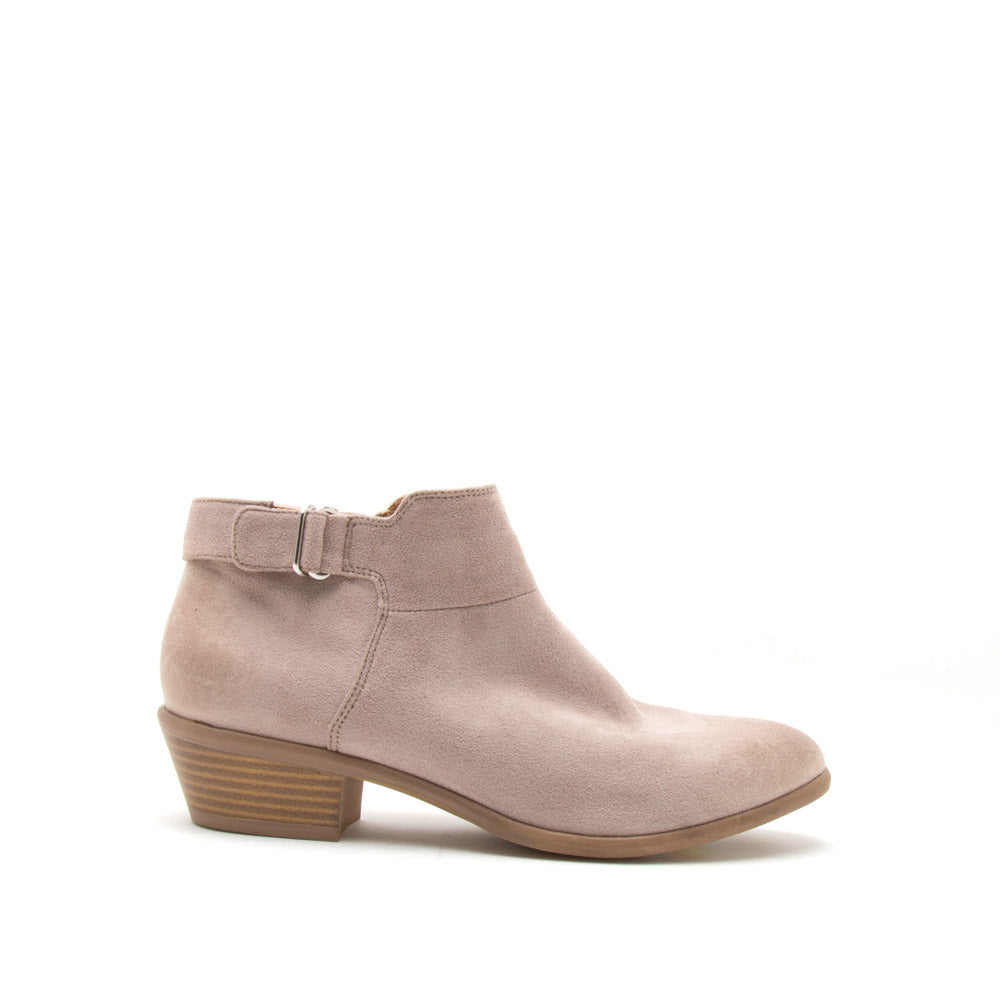 Weekend-09 Taupe Buckle Strap Bootie