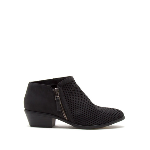 Weekend-10 Black Perforated Bootie