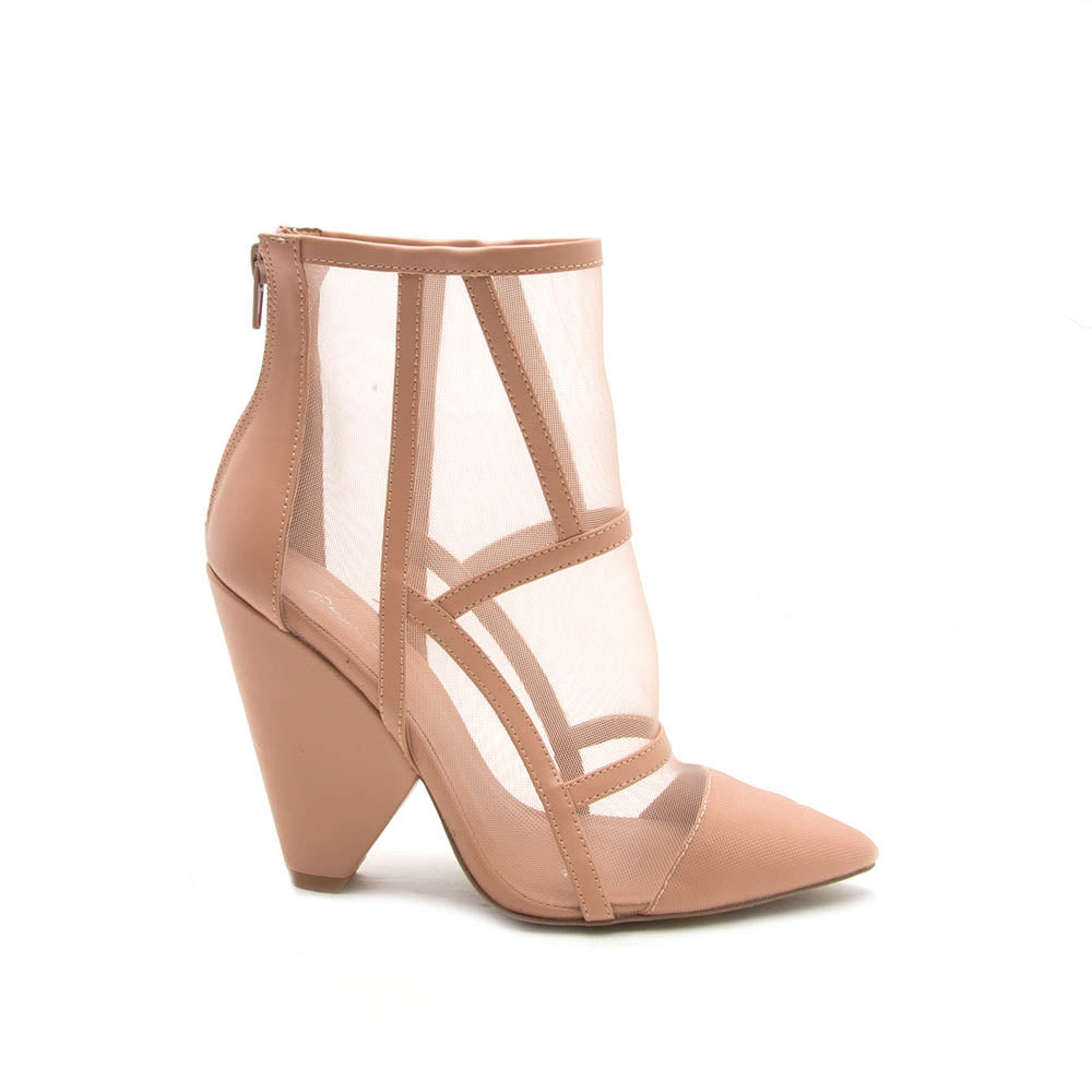 Wiley-08 Blush Mesh Bootie