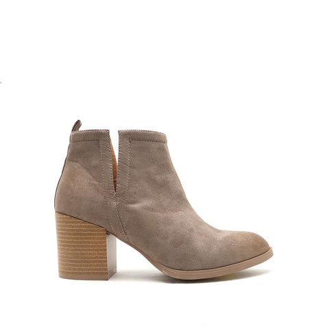 WILSON-02 Taupe Oil Finish Stacked Bootie