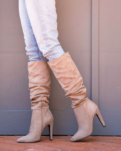 Wink-01 Taupe Slouchy Boot
