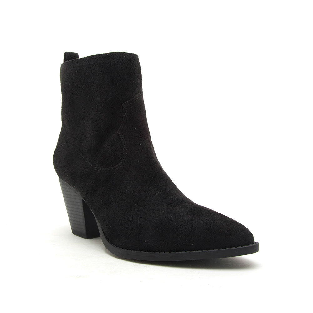Zane-27 Black Stretched Booties