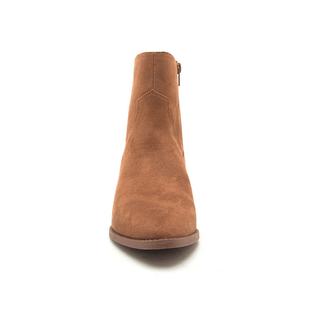 Zane-27 Camel Stretched Booties