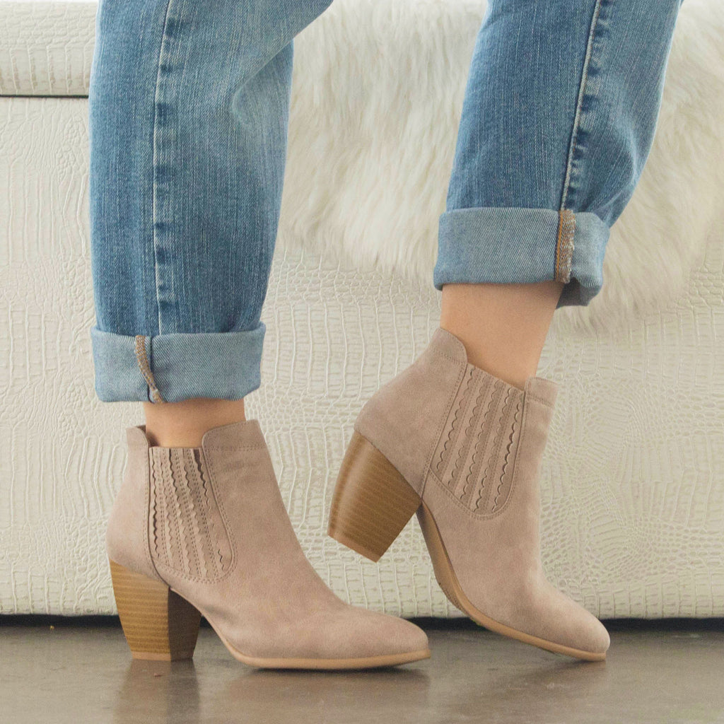 Zillion-03 Taupe Chelsea Bootie