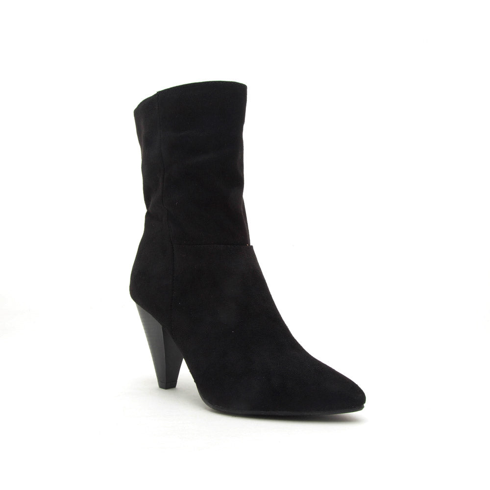 Zinger-01 Black Mid Calf Boot