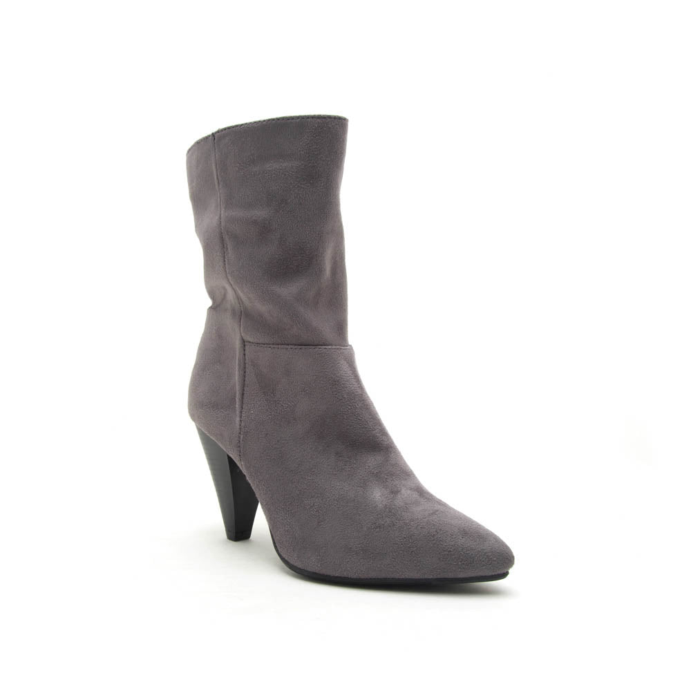 Zinger-01 Steel Grey Mid Calf Boot