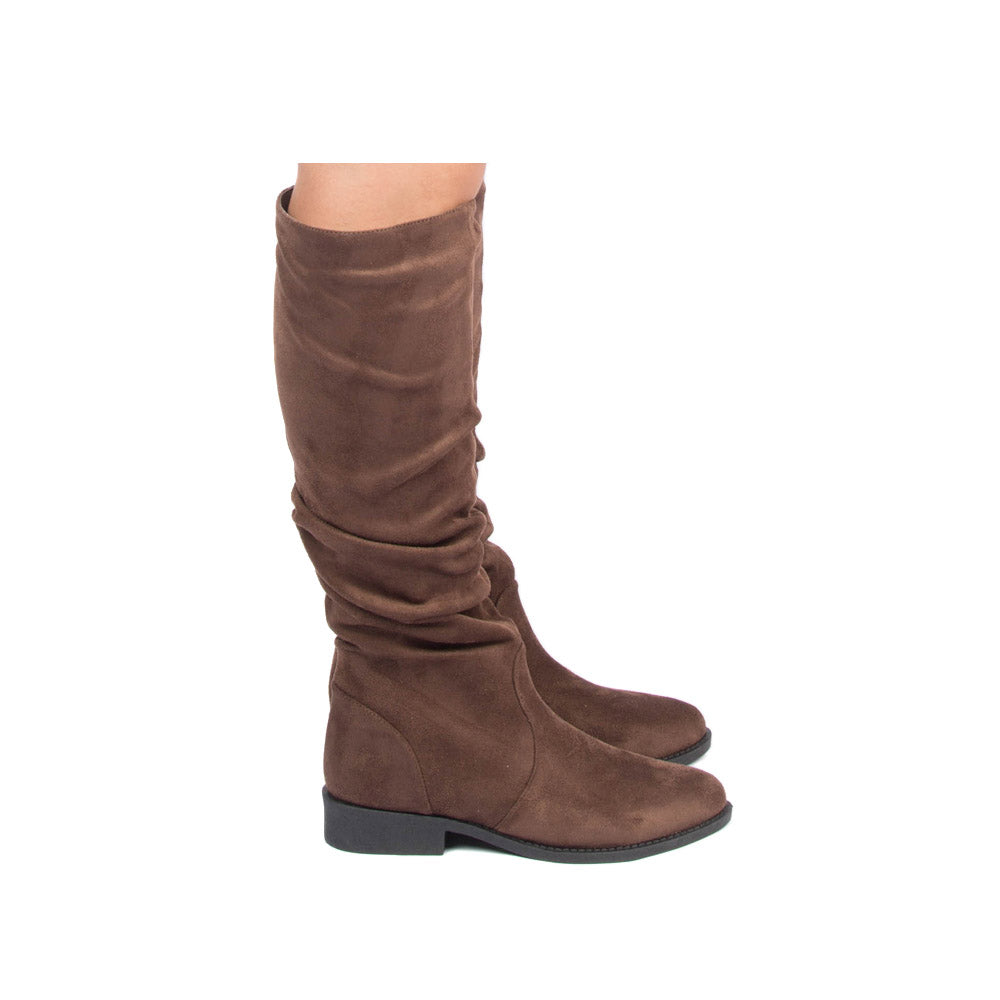 Zion-04BX Light Brown Slouching Boot