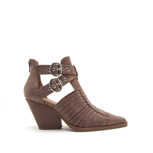 Zooey-01 Nutmeg Strappy Booties