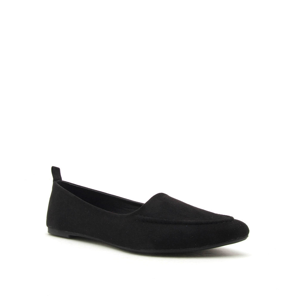 Zoom-04 Black Loafer Ballerinas