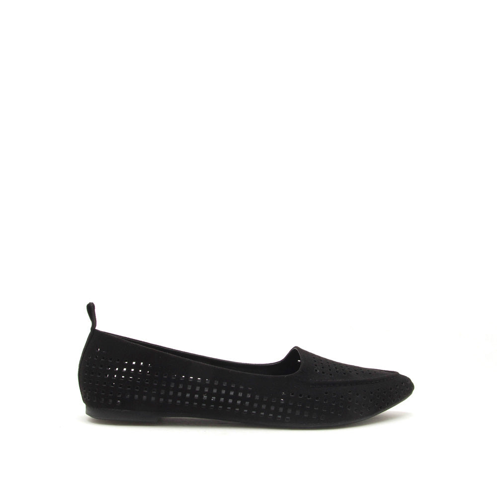 Zoom-05 Black Perforated Loafer