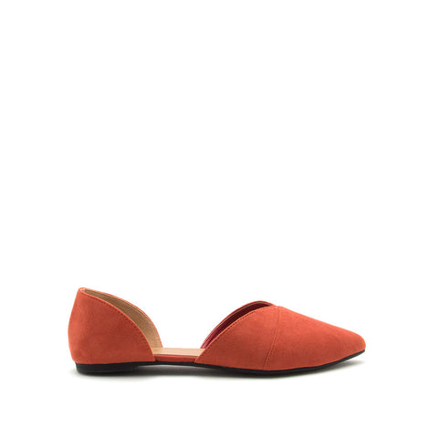 Zoom-08 Brick Double Piece D'Orsay Ballerinas