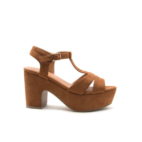 Anissa-01 Camel Open Toe Sandals