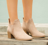 Topanga-40 Taupe Closed Toe Booties