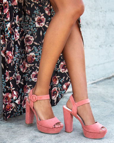 Iconic-01 Dusty Rose Platform Pump