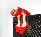 Katz-37 Red One Band Ankle Sandal