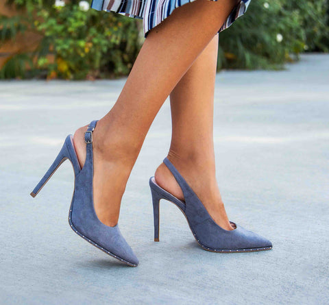 Vava-02AX Steel Grey Slingback Pump