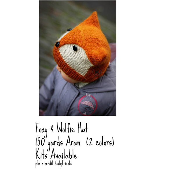 Foxy and Wolfie Hat Kit