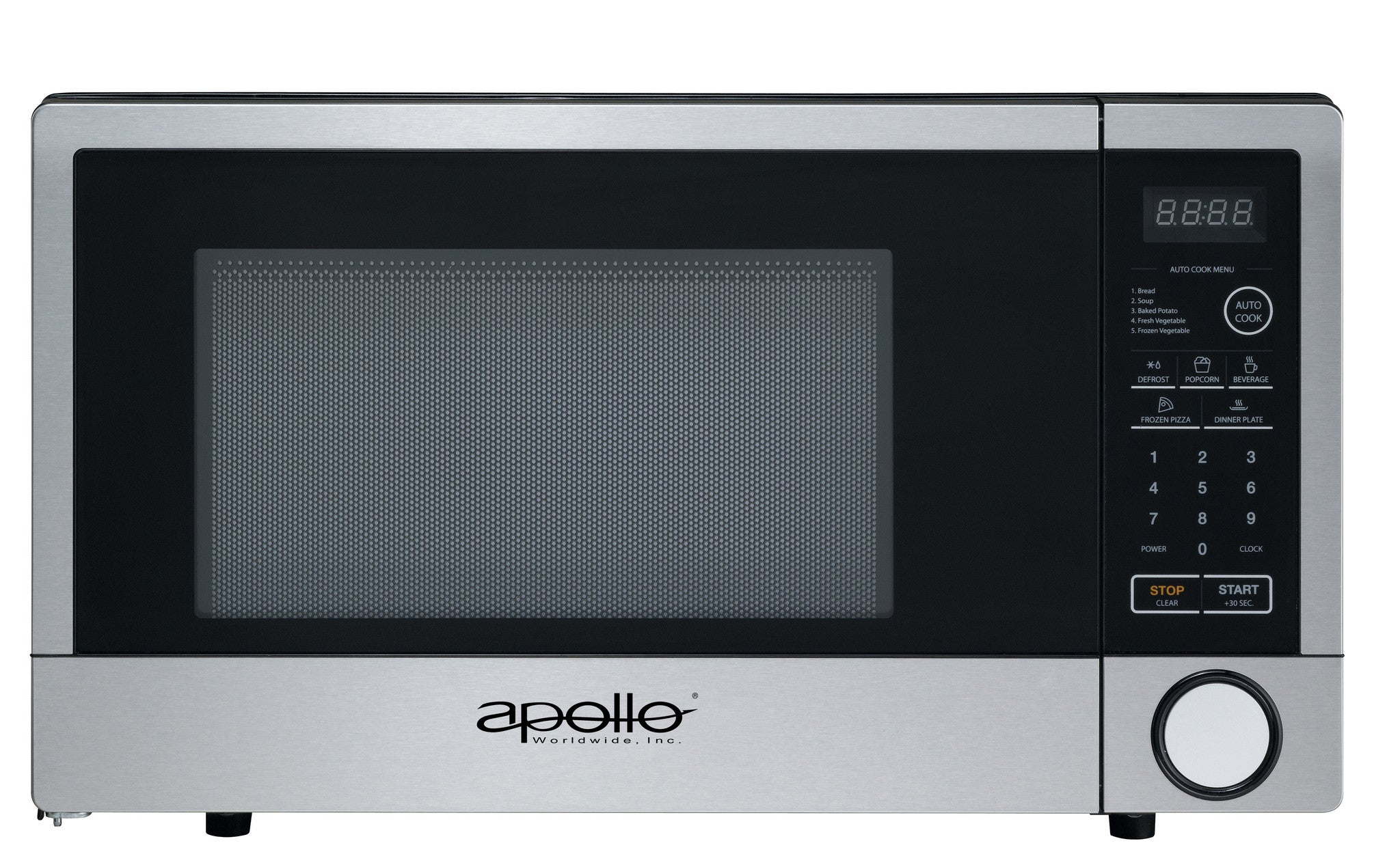 Apollo Microwave Oven: AD-10-CTS/B, 1.1 cu.ft., 1000 W.