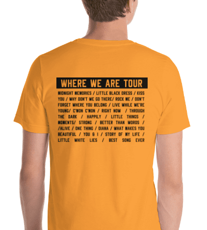 Where We Are Tour Tee & Crop Top