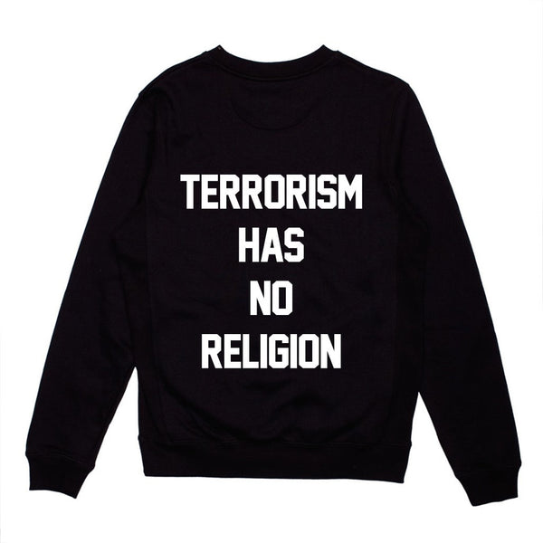 Terrorism Has No Religion Crewneck (Preorder) - 1950 Collective LLC
