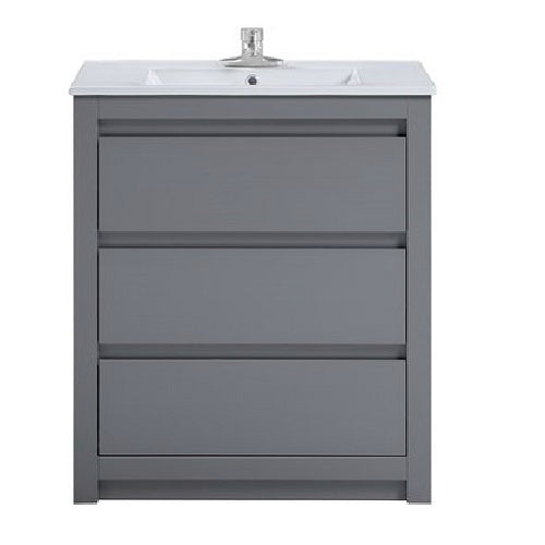 "Liam - 32"" Grey, Modern Freestanding Bathroom Vanity - Coming in July"