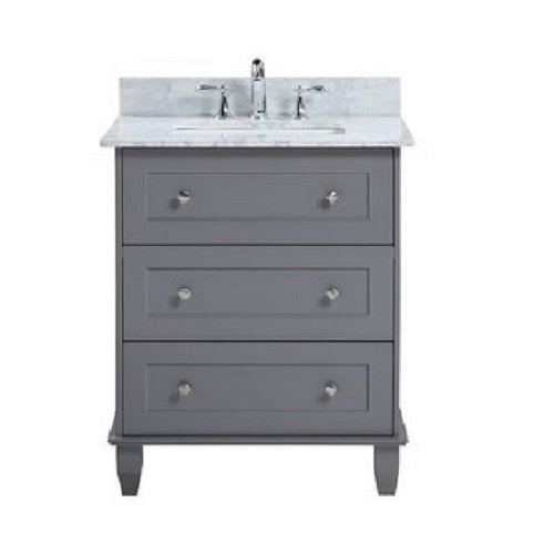 "Ava - 30"" Grey, Modern Freestanding Bathroom Vanity - Coming in July"