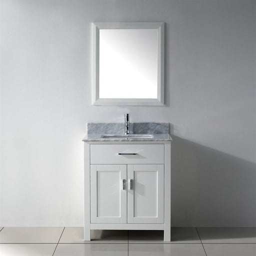 Deanna- 24 inch Traditional Freestanding White Bathroom Vanity w/ Marble Top