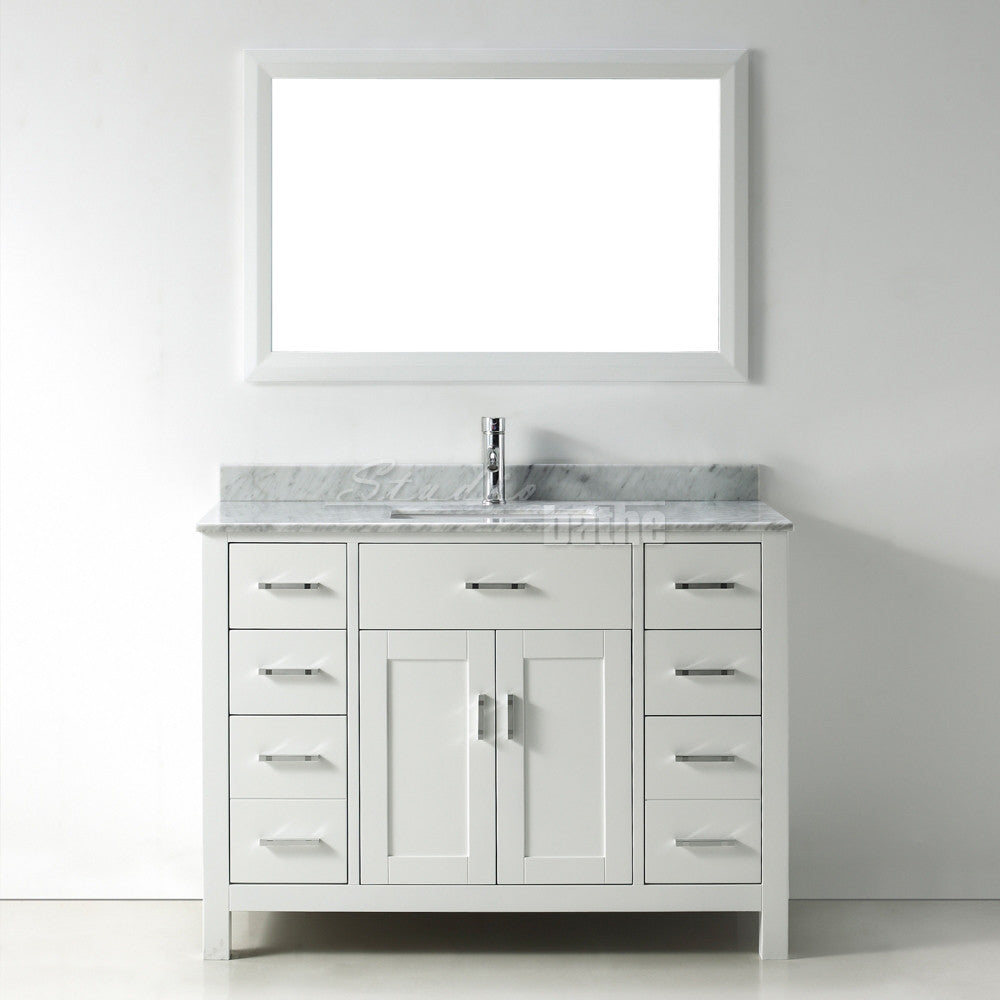 bathroom cabinets white 48 inch modern freestanding white bathroom vanity w 10439