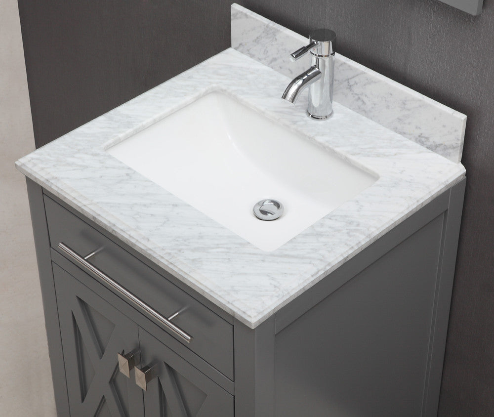 Kennedy 24 Inch Traditional Freestanding Gray Bathroom