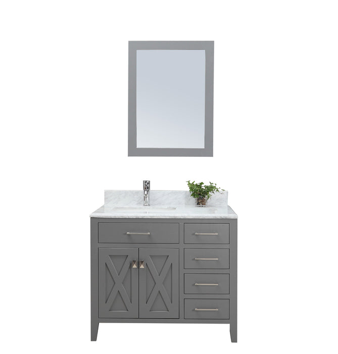 Alexa Inch Traditional Freestanding Gray Bathroom Vanity W - 36 inch grey bathroom vanity