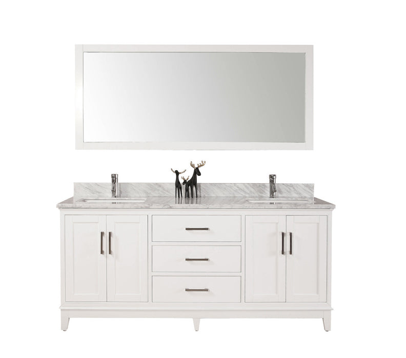 60 inch belvedere modern white double bathroom vanity w marble top