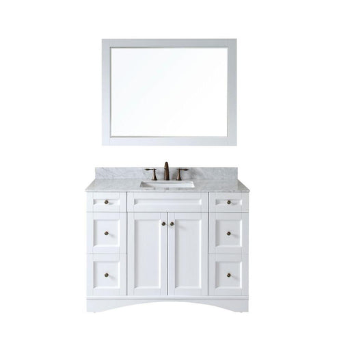 Antonietta- 48 inch Traditional Freestanding White Bathroom Vanity w/ Marble Top